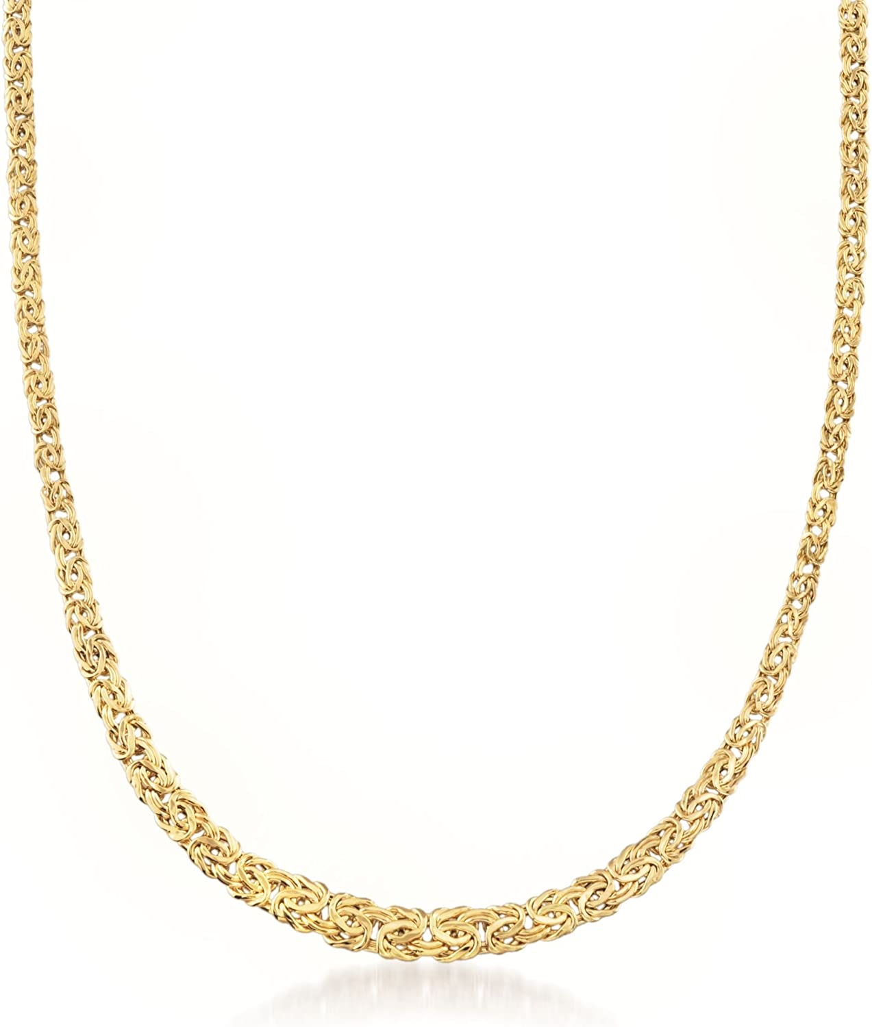 Ross-Simons 14kt Yellow Gold Graduated Byzantine Necklace