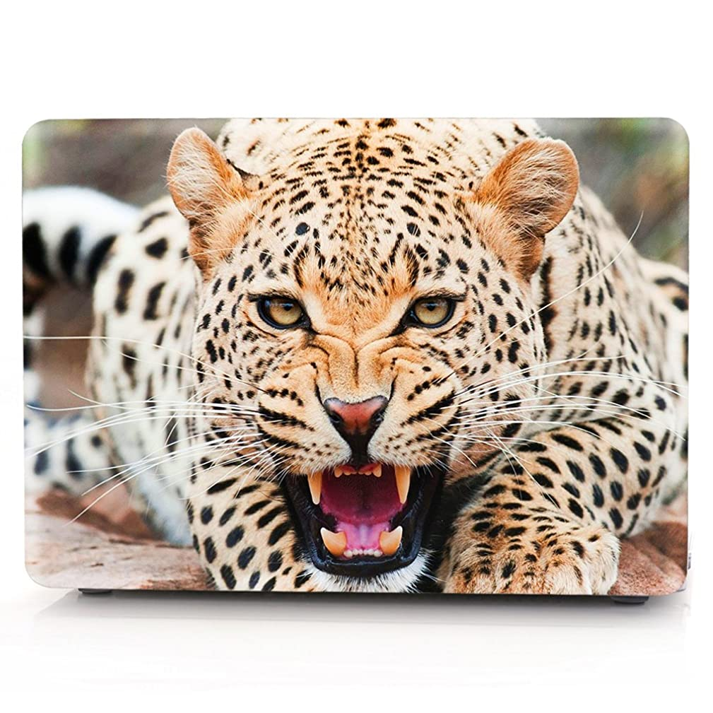 MacBook Case,Laptop Case Wolf,Leopard,Eagle Picture Plastic Case Hard Shell Case for MacBook Pro 13-inch with Retina Display Model A1425/A1502 with Keyboard Skin Cover and Screen Protector (Leopard)