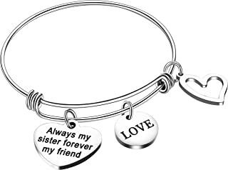 Sister Bracelets Expandable Bangles Gifts for Sisters Girls Best Friend Jewelry Friendship Gifts