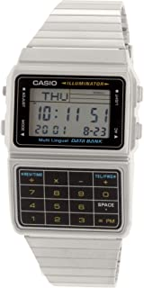 Casio Men's Silver Tone 25 Memory Calculator Databank Watch