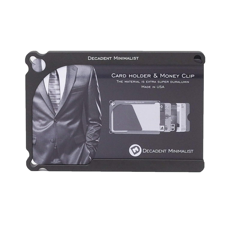超便利! アルミブロック削りだし クレジットカードケース Decadent Minimalist デカデント ミニマリスト