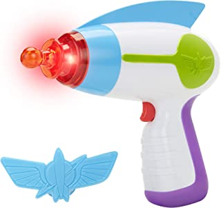 Toy Story Disney 4 Buzz Lightyear Blaster Toy Space Ranger Set, Includes Star Command Badge - Light & Sound! Perfect for Kids, Boys Halloween Costume Prop