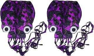 Kit infantil de polvo Lioobo, 2 peças, sem moldura, fácil Flyer, kits de polvo de pipa macia, sem linha voadora, para parq...