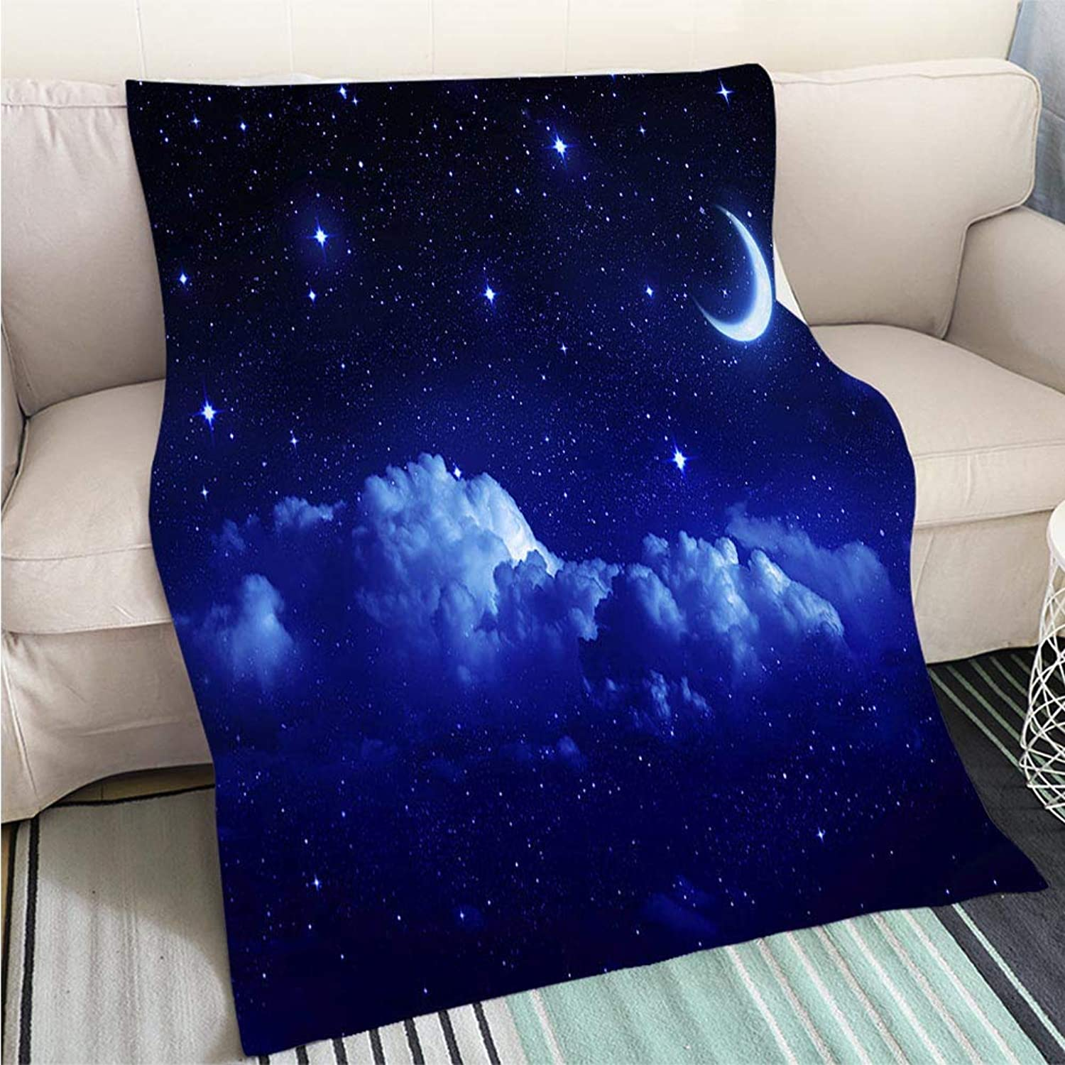 Luxury Super Soft Blanket Romantic Sky Night for Valentine Background Perfect for Couch Sofa or Bed Cool Quilt