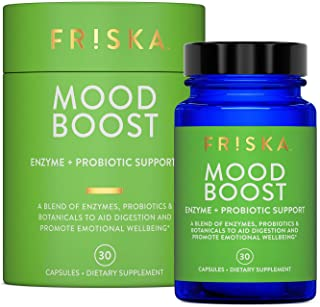 Sponsored Ad - Friska Mood Boost | Digestive Enzyme and Probiotic Supplement with L.Theanine and Lemon Balm Extract | Natu...