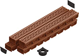 Standartpark- 4 Inch Trench Drain System with Grate - TERRACOTTA (4)