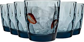 Bormioli Rocco Diamant Dimpled Glas trinken Tumblers - Ocean Blue - 300ml - Packung mit 12