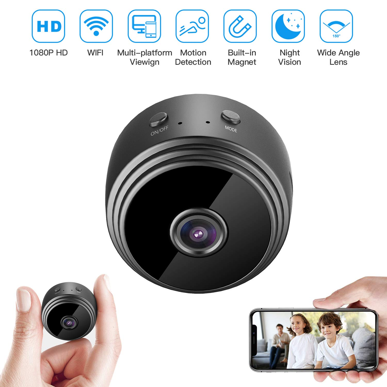 Wireless Security Detection Notifications HZTCAM