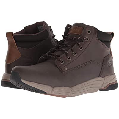 SKECHERS Relaxed Fit Metco Atmore Boot (Chocolate) Men