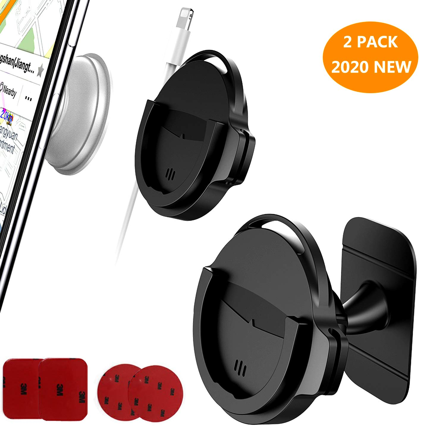 Replacement Used on Dashboard Phone Holder for Cell Phone//GPS Navigation Car Phone Mount for Collapsible Grip//Socket Mount Users with 3M Sticky Adhesive Wall Home Desk