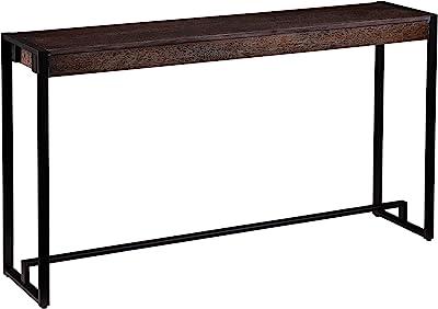 Amazon Com Sei Furniture Macen Narrow Console Table 54 Burnt Oak Black Furniture Decor