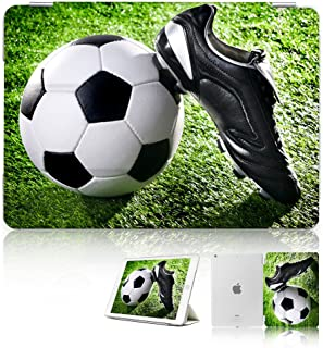(For iPad Generation 5 6/iPad 9.7 inch 2017 & 2018 Version) Smart Case Cover - SMART30006 Football Soccer