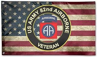 MANBABAIHUO U.S. Army Veteran 82nd Airborne Flag Garden Flag Garden Decor Flags 3x5