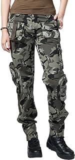 chouyatou Women's Casual Camouflage Multi Pockets Cargo...