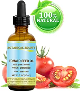 TOMATO SEED OIL. 100% Pure / Natural / Virgin / Undiluted / Cold Pressed for Skin, Hair and Lip Care. 0.5 oz.- 15ml.