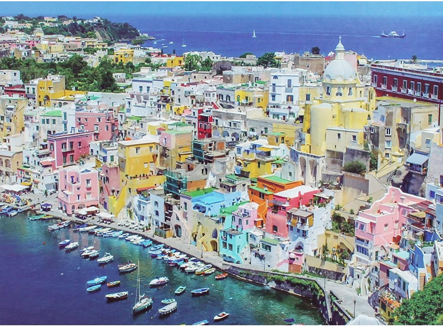 The Island Of Procida Jigsaw Puzzle  1000 Pieces