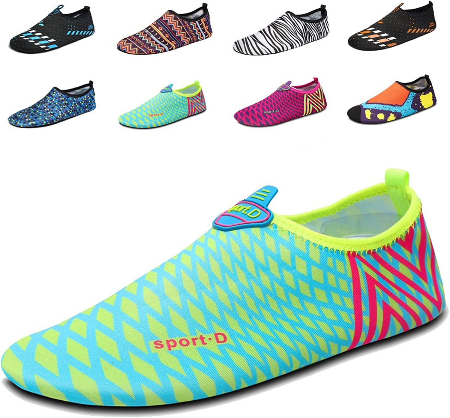 LAROK Men and Women's Quick-Dry Sport Barefoot Water shoes Aqua Socks for Beach Surf Yoga Exercise