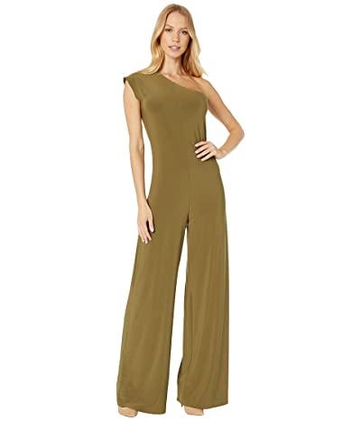 KAMALIKULTURE by Norma Kamali One Shoulder Jumpsuit (Dark Khaki) Women