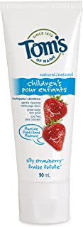 Tom's of Maine Silly Strawberry Fluoride-Free Natural Children's Natural Toothpaste, 90 mL