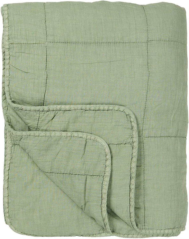 IB Laursen - Quilt - Tagesdecke - Bettüberwurf - Decke Decke Decke - staubig grün - Baumwolle - 130 x 180 cm B01BHCJKK0 80a92d