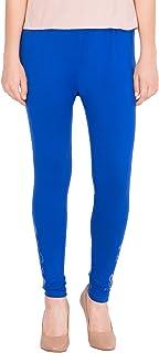 American-Elm Women's Cotton Viscose Net Legging- Blue
