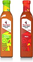 Nando's PERi-PERi Zesty Hot Variety Pack - Lemon & Herb Sauce and Our Signature Hot Sauce | Gluten Free | Non-GMO - 17.6oz Bottle (2 Pack)