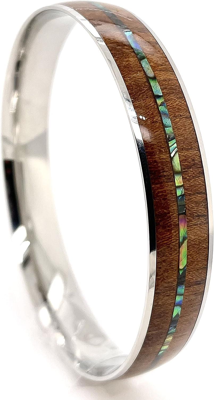 Beautiful Hawaiian Natural Koa Wood With Abalone Shell 12mm Bang
