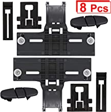 Upgraded W10350376 Dishwasher Top Rack Adjuster & W10195839 Dishwasher Rack Adjuster & W10195840 Dishwasher Positioner & W10508950 Stop Track Fit for Whirlpool Kenmore, More Durable with Steel Screws