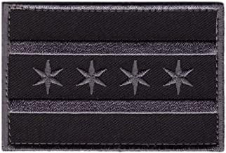 Hook Chicago Subdued Gray Flag Tactical Morale Gear Patch CH01
