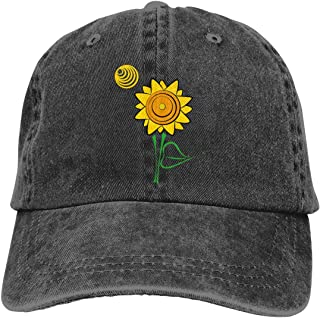 OASCUVER in A World Full of Roses Be A Sunflower Hats Baseball Cap Cotton Adjustable Unisex Dad Hat