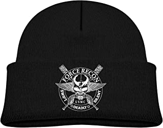 United States Marine Corps Force Recon Beanie Cap Thick,Soft,Warm Slouchy Knit Hat for Boys & Girl Winter Soft Ski Cap