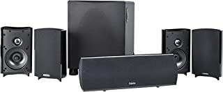 Definitive Technology Procinema 800 – Premium 5.1 Channel Home Theater Speaker System | 300W Powered Subwoofer, Center Channel + 4 Satellite Speakers | HD Dolby Surround Sound | Wall Mountable