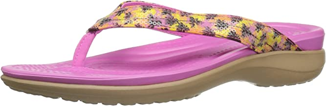 Crocs Women's Capri V Graphic Sequin Flip