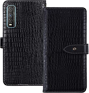 YLYT Shockproof - Black Flip Leather TPU Silicone Luxury Cover Stand Wallet Case For Vivo Y70t 6.53 inch Pouch With Card S...