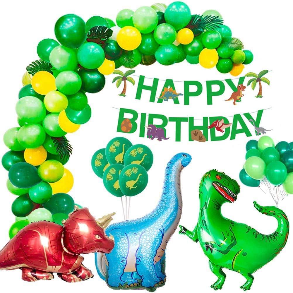 Alintor Kindergeburtstag Deko, Dinosaurier Geburtstagsdeko Jungen Set,  Happy Birthday Banner, Jura Stil Dino Party Luftballons, Perfekt für Kinder  ...