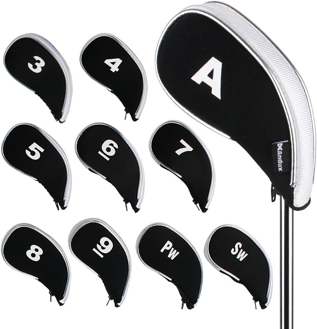 Andux Golf Iron Portland Mall Head Covers 10pcs Set with Zipper Many popular brands