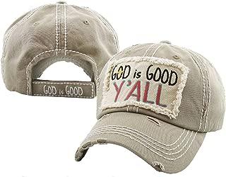 KBETHOS Hats Women's God is Good Y'all Vintage Baseball Hat Cap