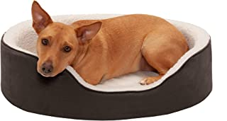 FurHaven Pet Dog Bed   Orthopedic Oval Lounger Pet Bed for Dogs & Cats, Espresso, Large