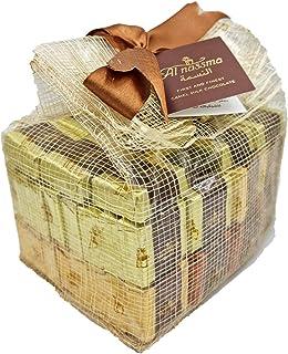 Al Nassma Assorted Praline Jute Bag - Hazelnut Nougat, Arabic Coffee Cream & Pistachio Marzipan (Variety Pack with 3 Flavo...