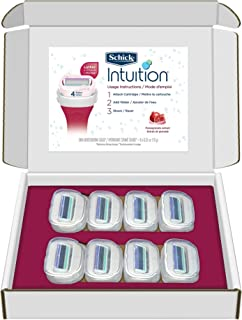 Schick Intuition Renewing Moisture Razor Blade Refills for Women with Pomegranate Extract - 8 Count