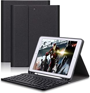 GOOJODOQ Keyboard Case with Pencil Holder for New iPad 2017/2018 9.7