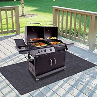 """Gas Grill Mat,BBQ Grilling Gear for Gas/Absorbent Grill Pad Lightweight Washable Floor Mat to Protect Decks and Patios from Grease Splatter,Against Damage and Oil Stains or Grease Spills (36""""×72"""")"""