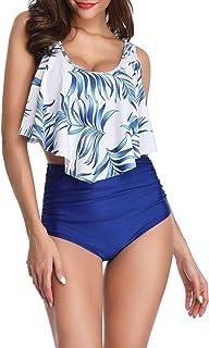 Traje de Baño Mujer Cintura Alta,Sujetador Acolchado Bikini Playa y Piscina