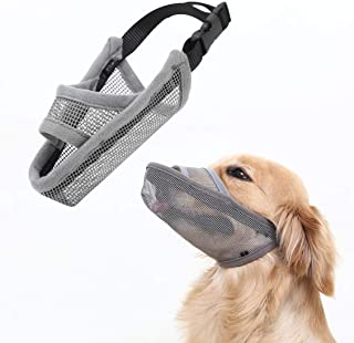 Crazy Felix Nylon Dog Muzzle for Small Medium Large Dogs, Air Mesh Breathable and Drinkable Pet Muzzle for Anti-Biting Ant...