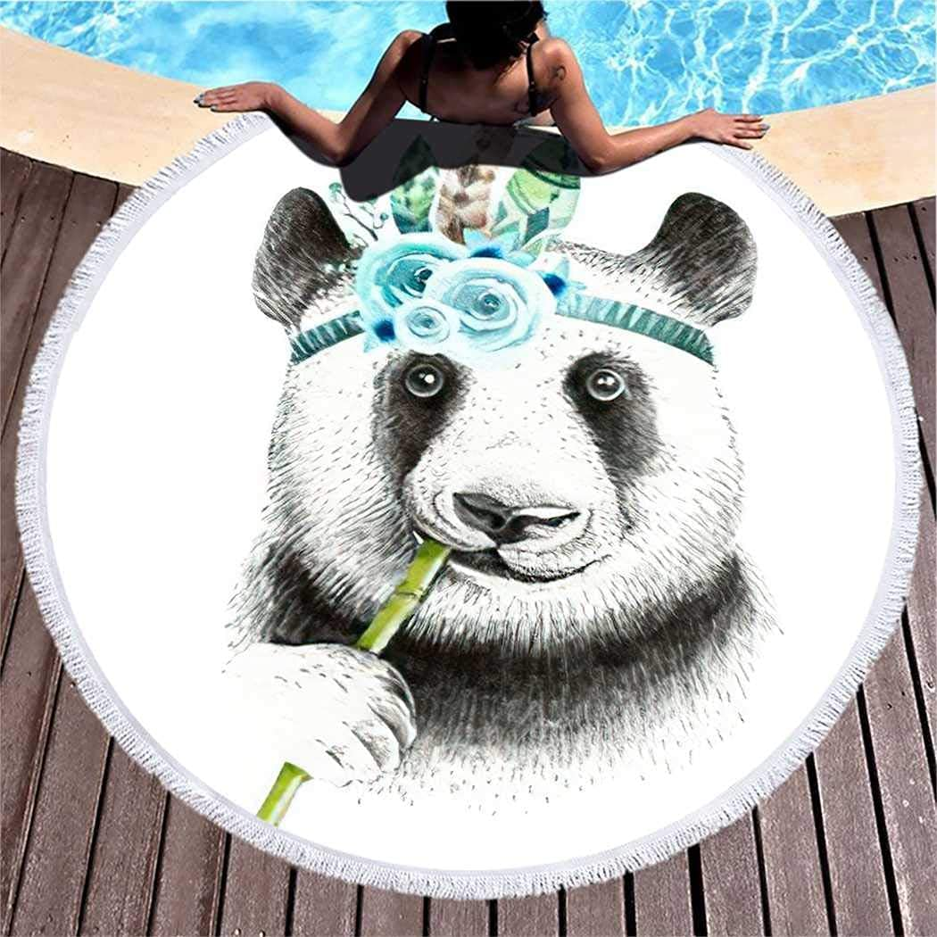 Panda Boho Nursary Feathers A surprise price is Colorado Springs Mall realized Collection Male Beach Towel Quick Dr