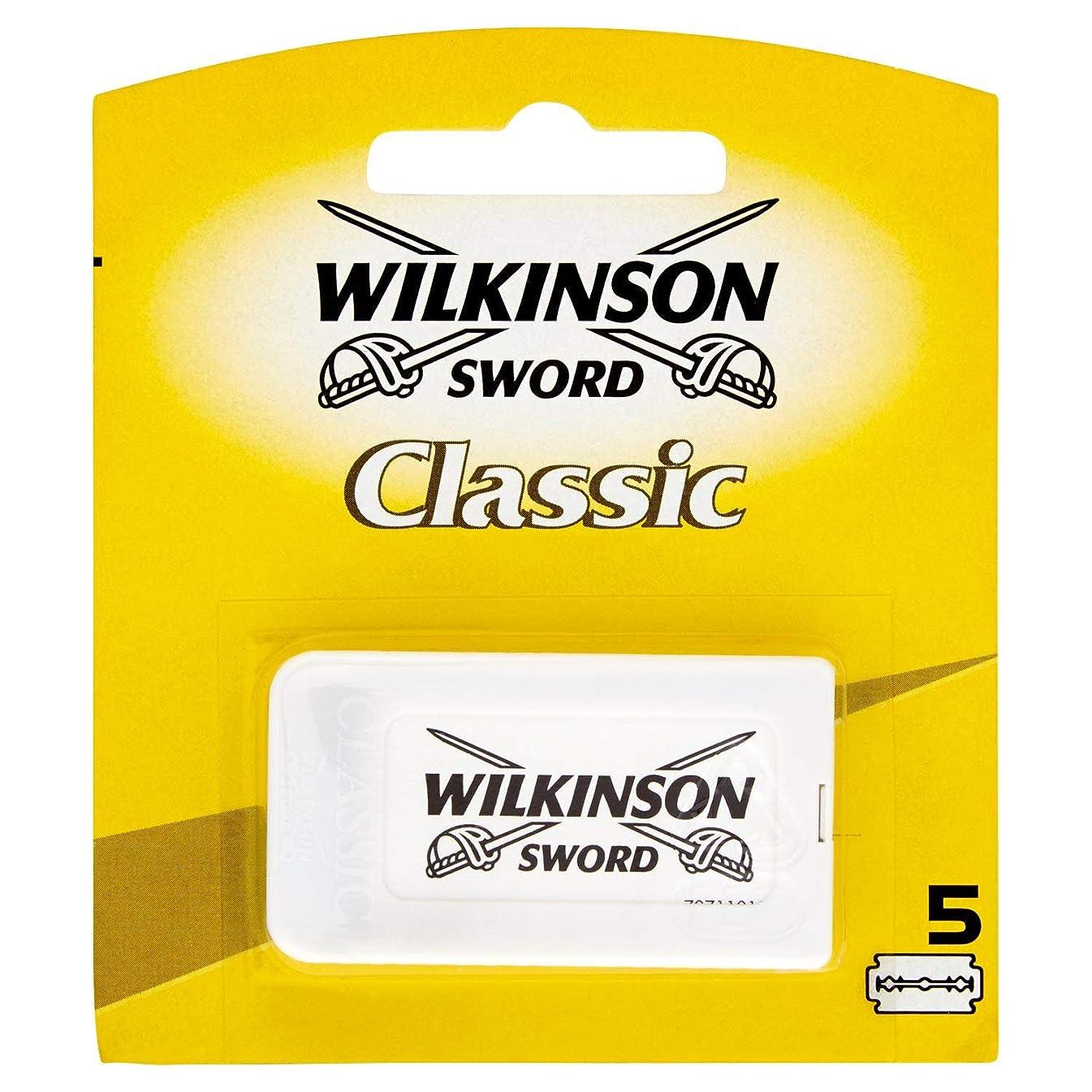廊下作り上げるシードWilkinson Sword(ウィルキンソンソード) Classic 両刃替刃 5個入り [並行輸入品]