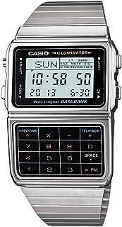 Men's Silver Tone 25 Memory Calculator Databank Watch