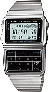 Men's Silver Tone 25 Memory Calculator Databank Watch