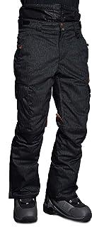 Stayer isolerade termobyxor män skidbyxor snowboardbyxor freeride vintersport jeans look svart