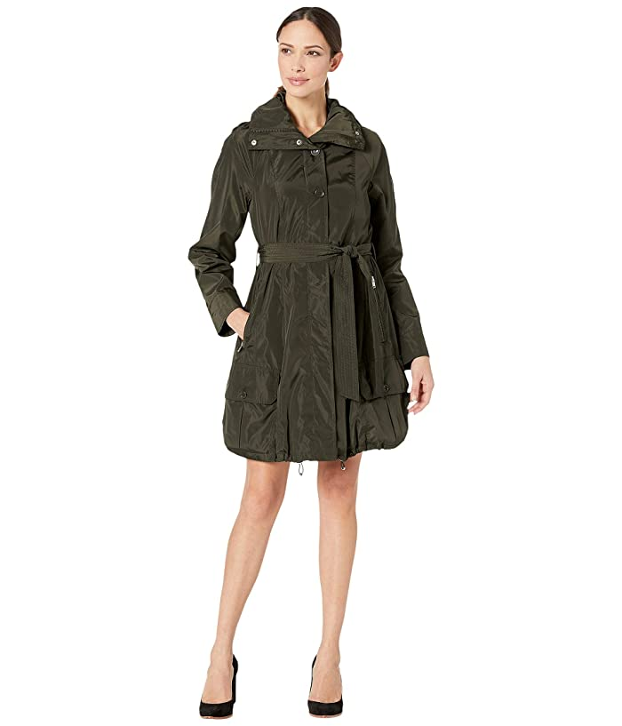 Marc New York by Andrew Marc Navarre Bubble Trench Coat w/ Hood (Olive) Women